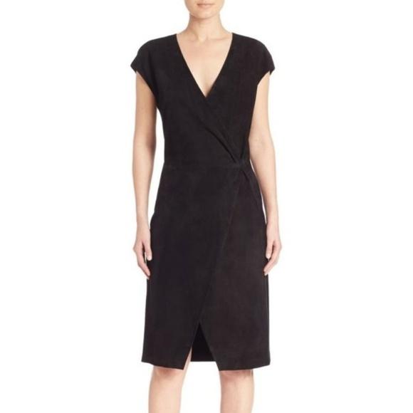 aliexpress excellent quality new styles Polo by Ralph Lauren Dresses   Polo Ralph Lauren Black Suede Wrap ...